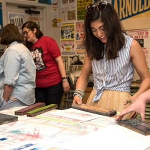 Printing activities at Hatch Show Print
